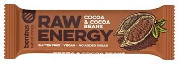 Baton RAW ENERGY z ziarnami kakaowca BEZGL. 50 g