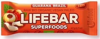 Baton daktylowo - orzechowy z guaraną raw bezglutenowy BIO 47 g