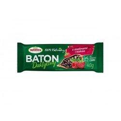 Baton daktylowy z malinami i kakao 40 g