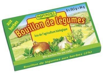 Bulion - kostki warzywne z ziołami (zielone) BIO (8 x 10,5 g) 84 g