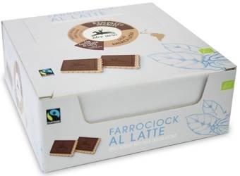 Herbatniki orkiszowe z mleczną czekoladą fair trade BIO 28 g