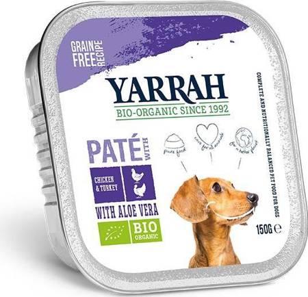 (dla psa) pasztet z kurczaka, wołowiny i indyka z aloesem BIO 150 g