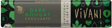 Baton croccante czekolada gorzka nugatowa BIO 35 g