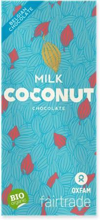 Czekolada mleczna z płatkami kokosowymi fair trade BIO 100 g