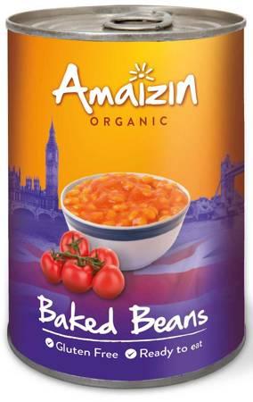 Fasolka w sosie pomidorowym (puszka) bezglutenowa BIO 400 g