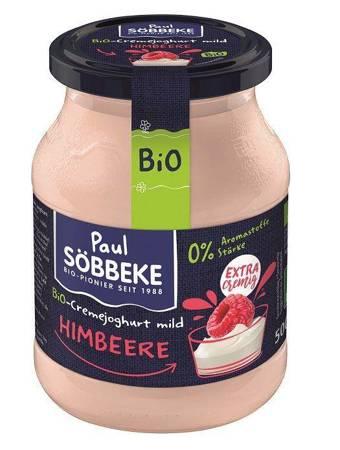 Jogurt malinowy (7,5 % tłuszczu w mleku) BIO 500 g (słoik)