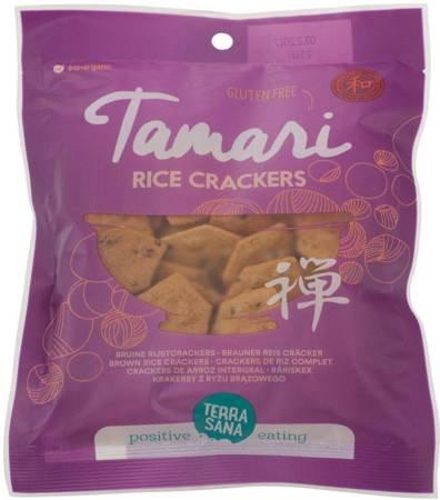 Krakersy z ryżu brązowego tamari -  bezglutenowe BIO 60 g
