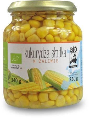 Kukurydza słodka w zalewie w słoiku BIO 340 g (230 g)