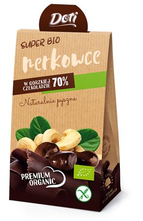 Orzechy nerkowca w czekoladzie gorzkiej bezglutenowe BIO 50 g