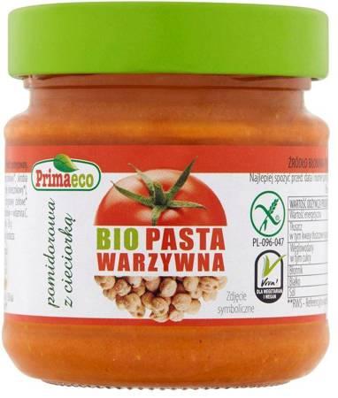 Pasta warzywna pomidorowa z cieciorką bezglutenowa BIO 160 g