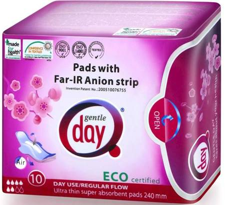 Podpaski higieniczne na dzień z paskiem anionowym 10 szt.