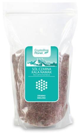 Sól czarna kala namak drobno mielona 1 kg